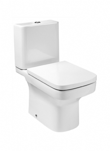 Roca Dama-N Close Coupled Toilet With Dual Flush Cistern - Soft Close Seat - White
